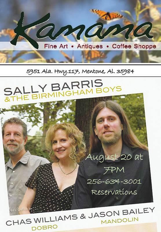 Sally Barris and the Birmingham Boys to perform tonight in Mentone