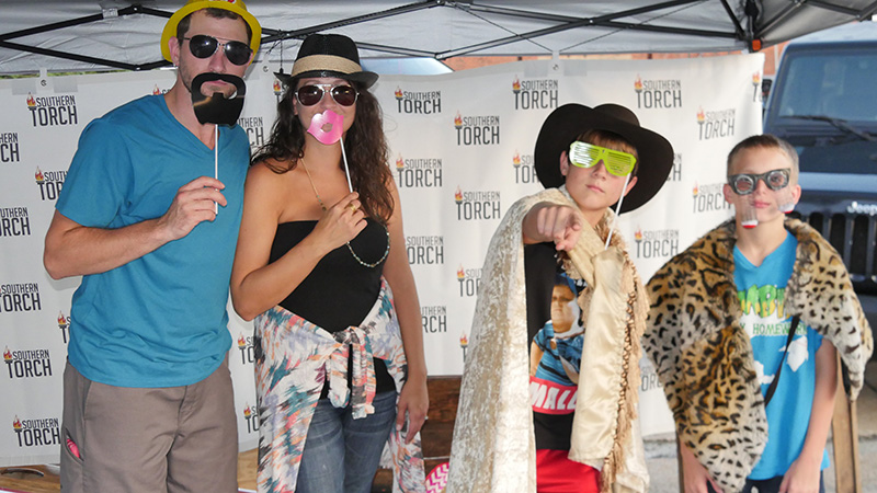 Southern Torch Boom Days photo booth