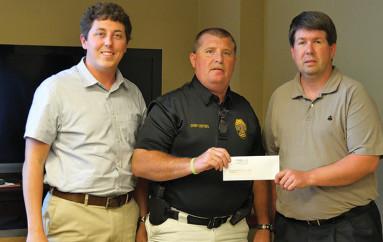 Rainsville presents funds to DeKalb County Tech School