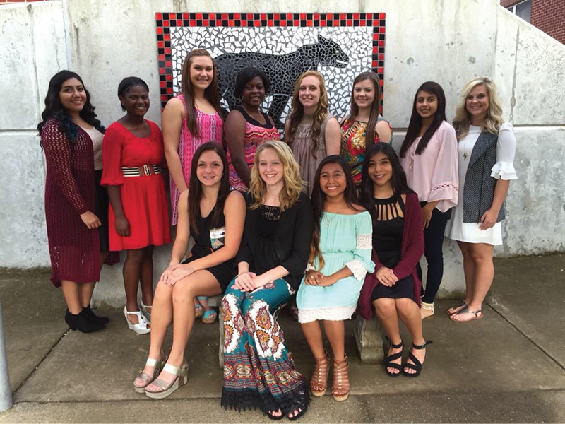 Collinsville Homecoming Court