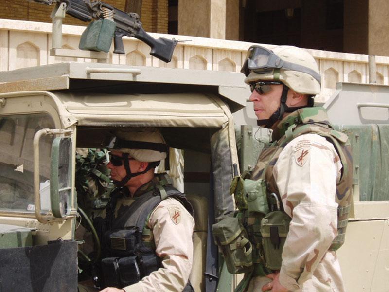 Guarding Baghdad City Hall