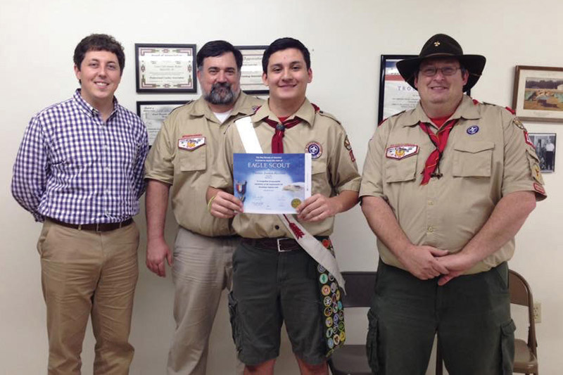 Local Scout honored