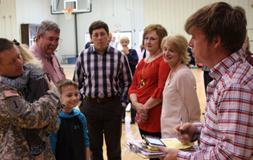 Rainsville First Baptist celebrates return of local hero, all are welcome; RFBC fellowship hall today from 2 p.m-4 p.m.