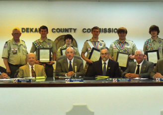 Dekalb's newest Eagle Scouts honored at commission meeting