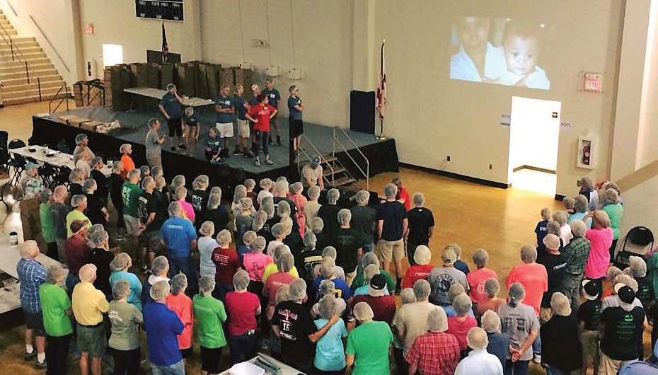 Over 100,000 meals packed for starving children