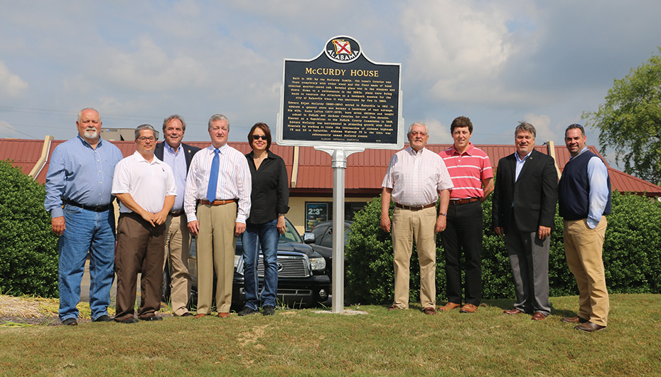 McCurdy house receives historical marker