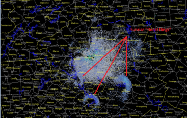 Radar picks up strange ring shapes in skies over DeKalb