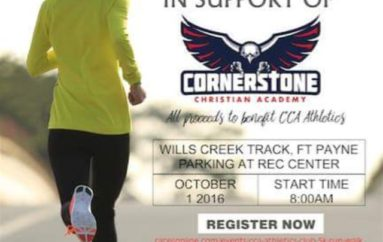 Cornerstone 5K Run next Saturday!