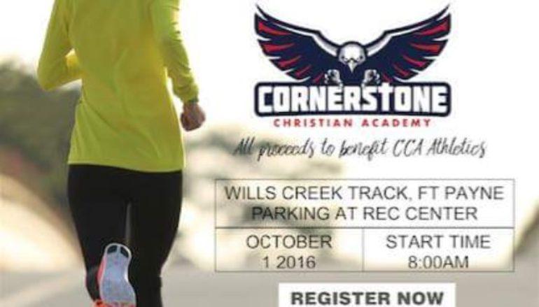 Cornerstone 5K Run next Saturday!