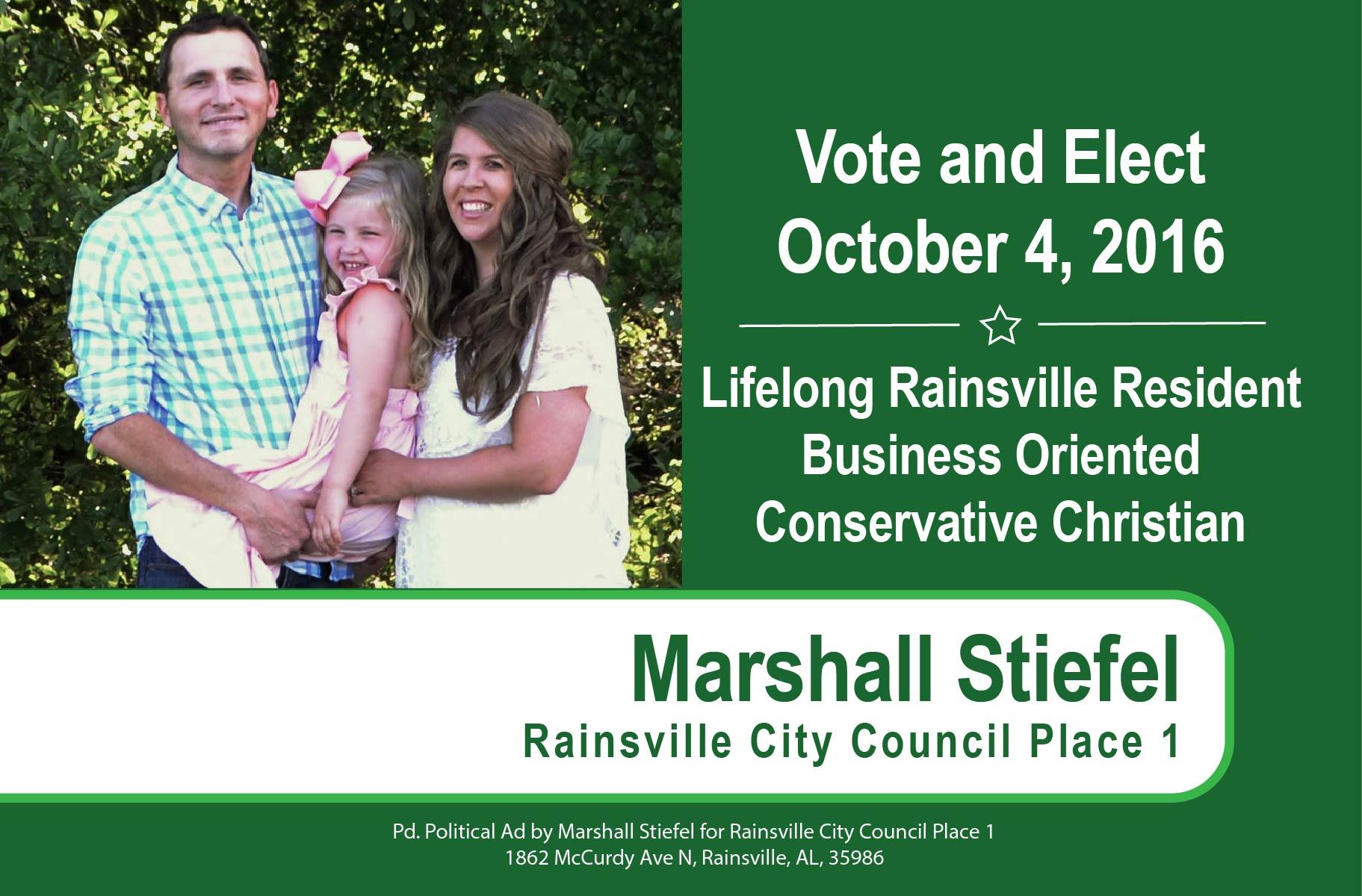 Vote Marshall Stiefel