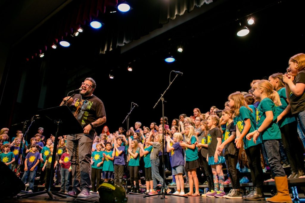 The Barton Hills Choir is known for their renditions of famous rock ballads. (Photo by Jennifer Nichols)