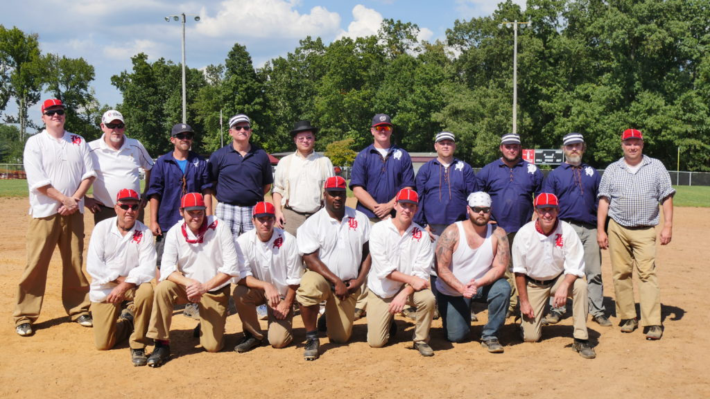 The Huntsville Vintage Baseball Club, Redcaps and Spinners. (Photo by Tyler Pruett)