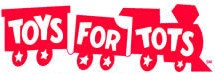 Look for the 'Toys for Tots' logo at the Drop-Off Locations.