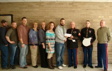 NACC Veterans present check to Marine Corps League