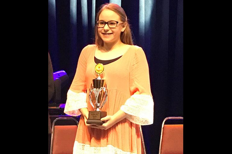 Henagar's Sommer Gimm wins DeKalb Spelling Bee