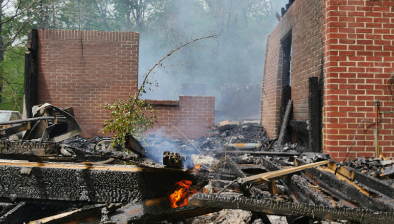 3 firefighters, homeowner treated after blaze on Sylvania Gap Road