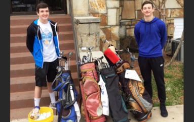 Geraldine and Sylvania Golf Teams receive equipment donation