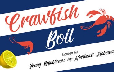 Young Republicans hosting Crawfish Boil Fundraiser in Fort Payne tomorrow!