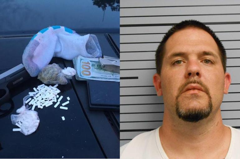 Man in Stevenson arrested after deputies find pills, marijuana, and pistol