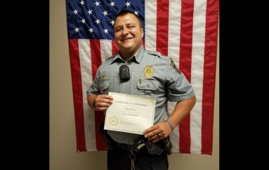 Rainsville Police Department names Tyler Perea Employee of the Month for April