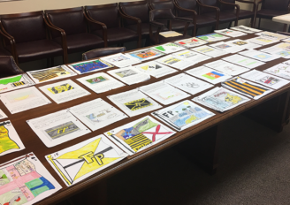 Judging underway for Fort Payne's Flag design contest!