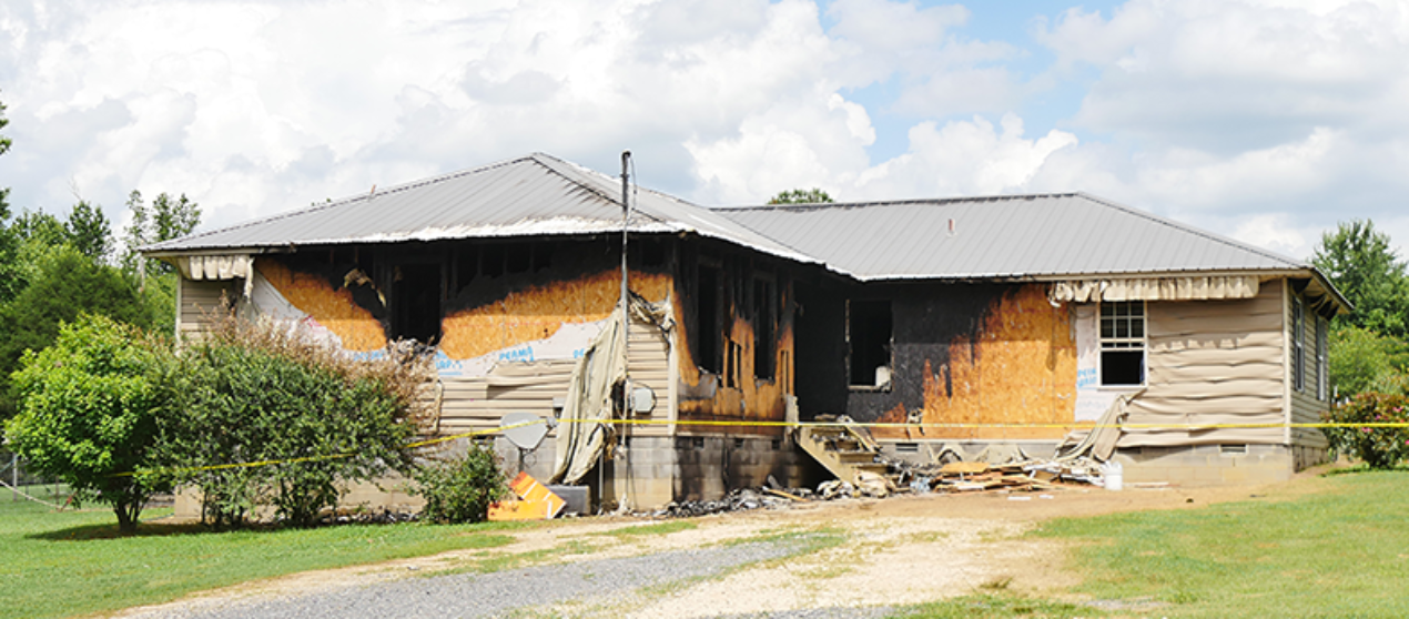 Firefighters save home from total loss in Rainsville yesterday