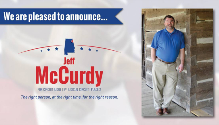 Jeff McCurdy releases official statement on his run for Circuit Judge!