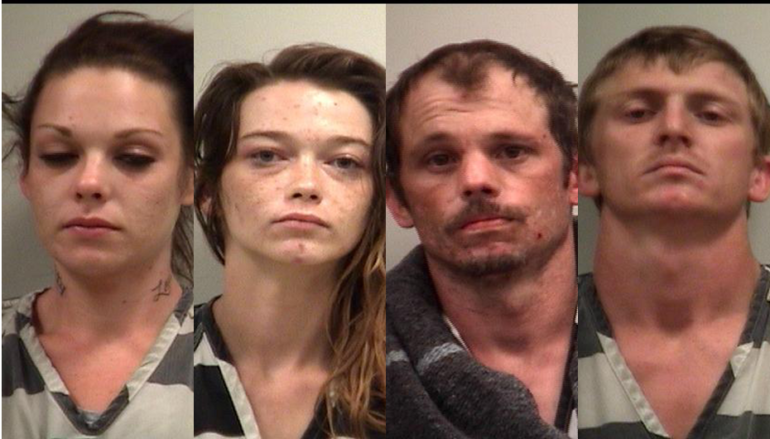 Tip on stolen property leads to four drug arrests