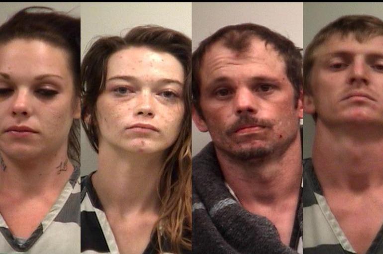 Tip on stolen property leads to four drug arrests