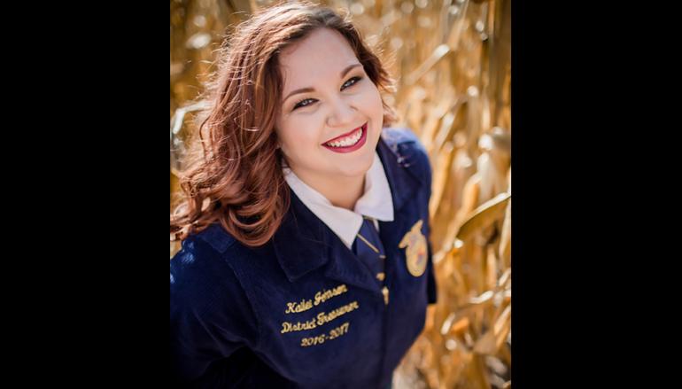 Sylvania student Kailee Johnson awarded National FFA Scholarship!
