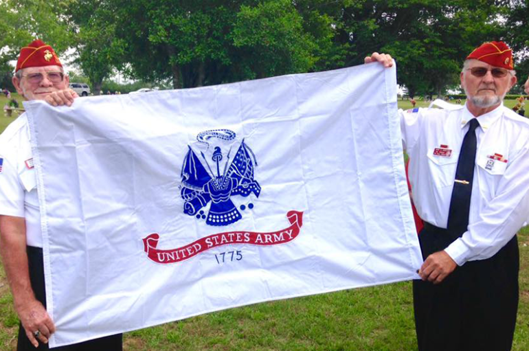 Marine Mom and the Marine Corps League ensured flags were up for Memorial Day