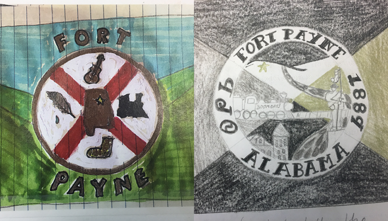 Winners of the Fort Payne flag design contest!