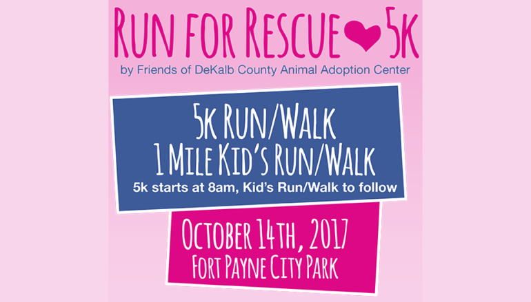Friends of Animal Adoption Center holding 'Run for Rescue' 5k this month