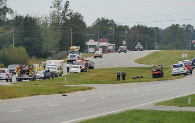 Motorcycle, Car involved in accident on Highway 75