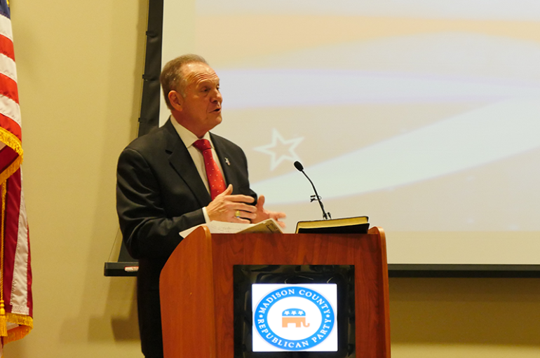VIDEO: Moore addresses Madison County GOP amid media drama