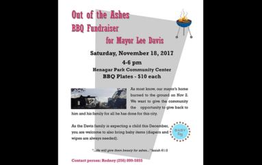 Henagar to hold fundraiser for Mayor Davis after fire