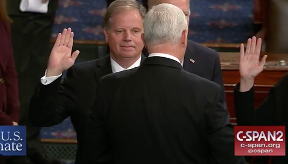 VIDEO: Doug Jones sworn in on the U.S. Senate Floor