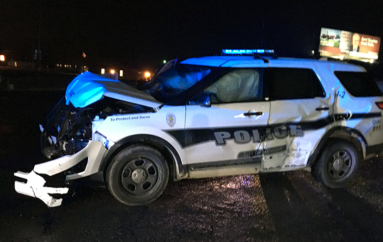 "Henagar Police vehicle ""Totaled"" in Accident last night"