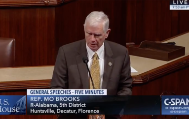 "VIDEO: Rep. Mo Brooks promotes ""right to try"" experimental treatments act on House Floor"