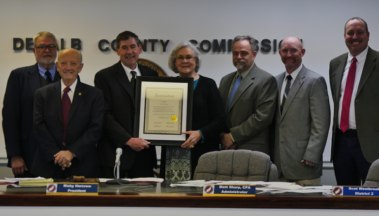 VIDEO: County Commission honors June Brewer for 20 years of service
