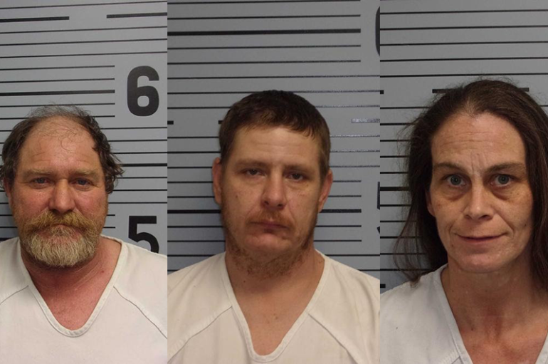 3 arrested after Meth and Moonshine found in Langston