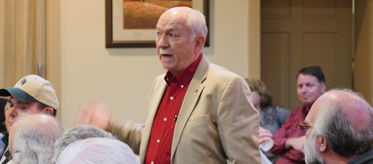 VIDEO: Contentious DeKalb Republican Breakfast