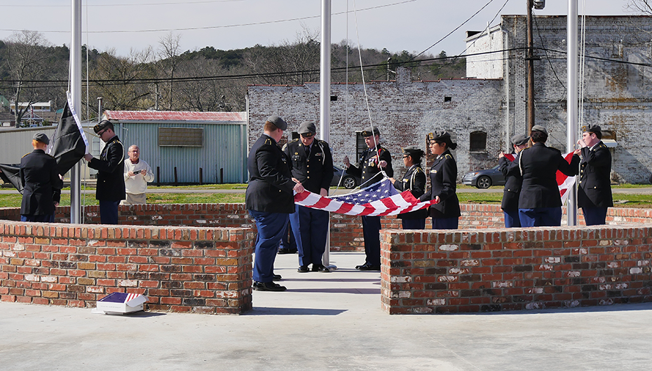 VIDEO: Flags raised at DeKalb County Patriot's Park in Fort Payne