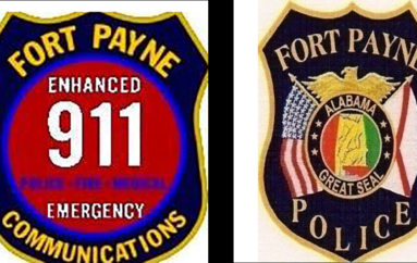 Fort Payne PD and 911 dispatch collecting water for Jacksonville