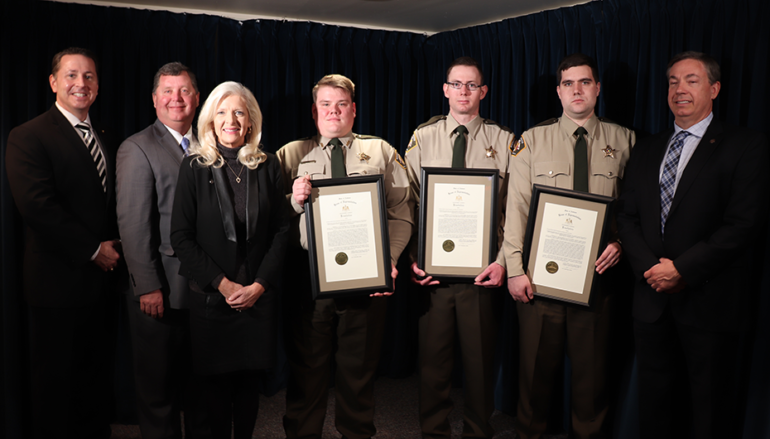 Three Etowah Co. Deputies awarded the 'Medal of Valor' at State Capitol