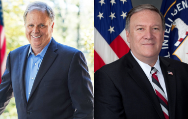 Jones sides with Republicans on Pompeo appointment