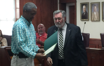 VIDEO: Walter Watson presented with Mayor's proclamation