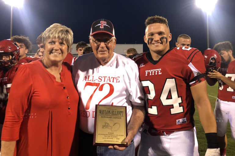 Elliott Honored at Homecoming