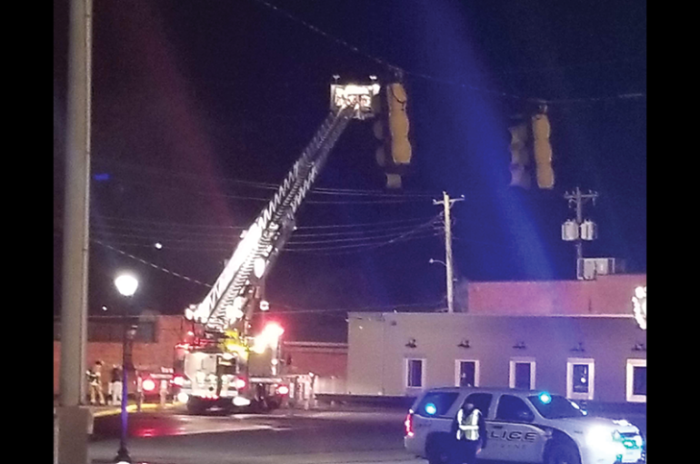 Fort Payne Battles Downtown Fire