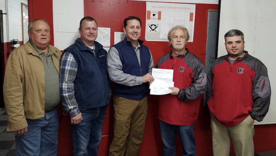 Collinsville Baseball Facility Receives Donation